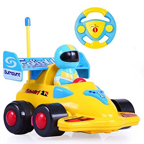 Team RCÂ Cartoon RC Formula Race Car Radio Control Toy for Toddlers Yellow