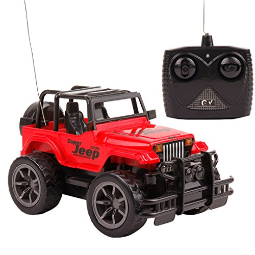 Naimo Jeep Car Radio Control Car 124 Mode RC Vehicle Best Toy for Children Red
