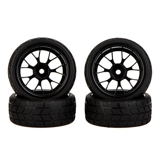 GoolRC 4Pcs High Performance 110 Rally Car Wheel Rim and Tire 20101 for Traxxas HSP Tamiya HPI Kyosho RC Car