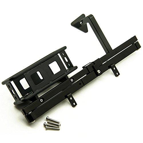 1 Set Steel Rear Bumper Bull Bar&Spare Tire Rack& Fuel Tank Seat for 110 RC Crawler D90 Black