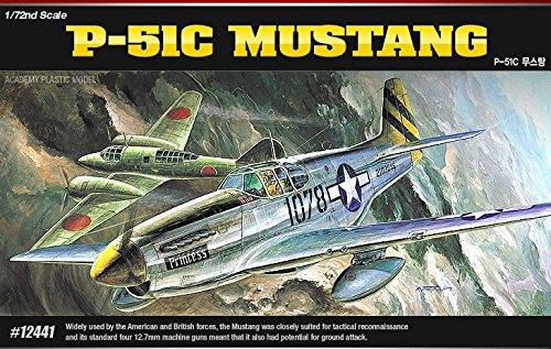 Academy 12441 P-51C MUSTANG 172 Plastic Hobby Model Kit NIB New item G4W8B-48Q46009