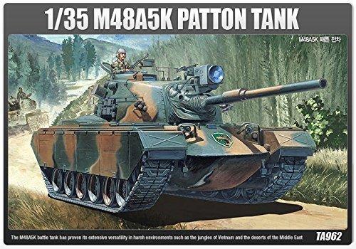Academy 13245 M48A5K PATTON TANK TA962 135 Plastic Hobby Model Kit NIB item G4W8B-48Q49239