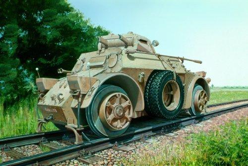 ITALERI Kids Hobby Military Toy Autoblinda Ab 40 Ferroviaria - 557064