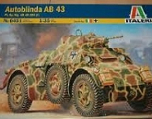 ITALERI Kids Hobby Military Toy Autoblinda Ab 43 - 556451 - 135 by Italeri