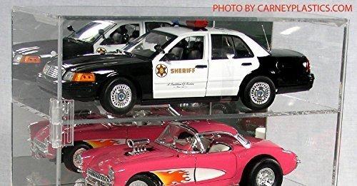 Diecast Car Display Case 118 6 Car Vertical Mirror Back
