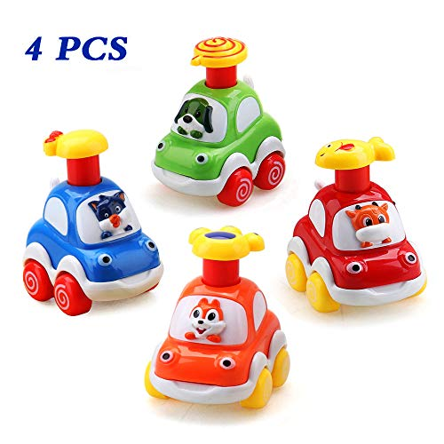 Amy Benton Baby Toy Cars for 1 Year Old Toddler Birthday Gift Toys Cartoon Wind up Cars for 2 Year Old Boys