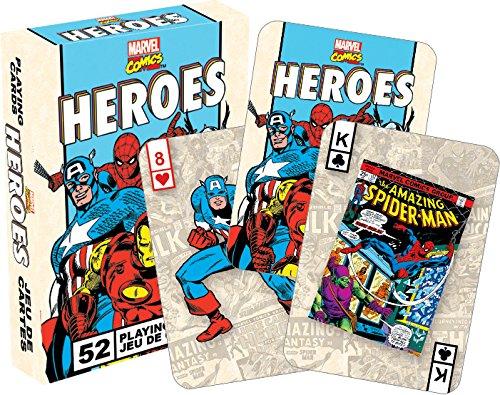 Aqurius Marvel Heroes Retro Playing Cards