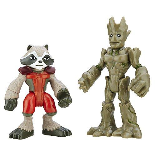 Playskool Heroes Marvel Super Hero Adventures Groot and Rocket Raccoon