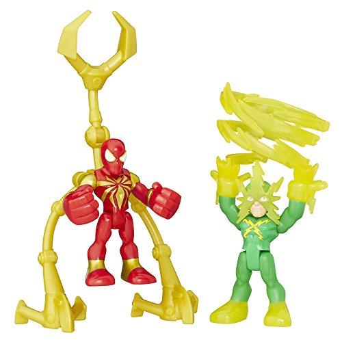 Playskool Heroes Marvel Super Hero Adventures Iron Spider and Marvels Electro