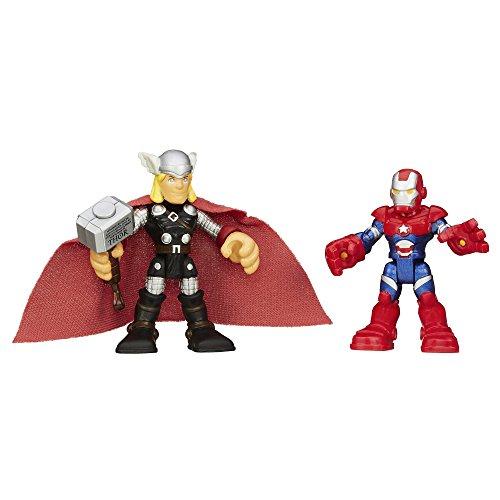 Playskool Heroes Marvel Super Hero Adventures Thor and Iron Patriot Figures