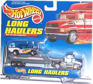Hot Wheels - Long Haulers Transport Rig TractorTrailer and 1950s Car Replicas