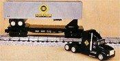 K-LINE TRAINS ERIE HEAVY HAULER FLAT CAR WITH TRACTOR TRAILER TRUCK K-6669TT