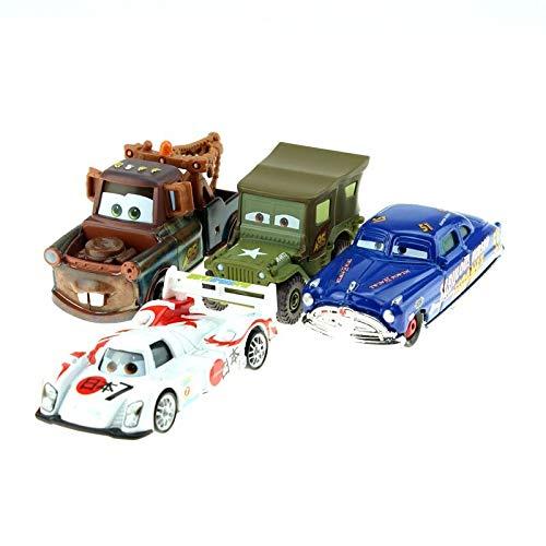 Disney Disney Pixar Cars 5Pcslot Mater Sarge Flo Hutodoroki 155 Scale Diecast Metal Alloy Modle Cute Toys for Children Gifts 4pcs lot