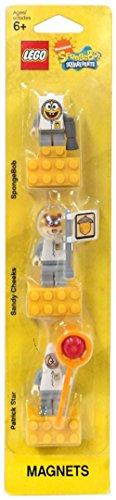 LEGO SpongeBob Spacesuit Magnet Set SpongeBob Sandy Cheeks and Patrick  Lego SpongeBob spacesuit magnet set Sponge Bob Square Pants Sandy Cheeks Patrick Star 852 547 japan import