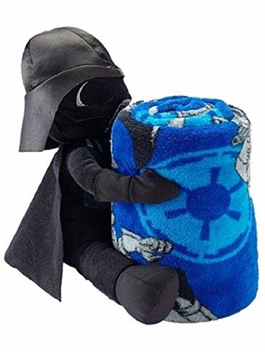 Disney Star Wars Darth Vader Throw Blanket Stuffed Action Figure 2 Pc Set