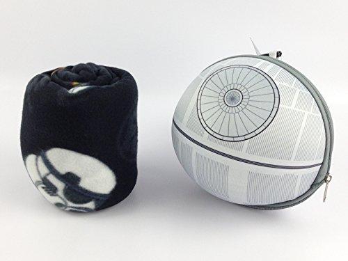 Disney Star Wars Death Star Zippered Travel Case Fleece Throw Set