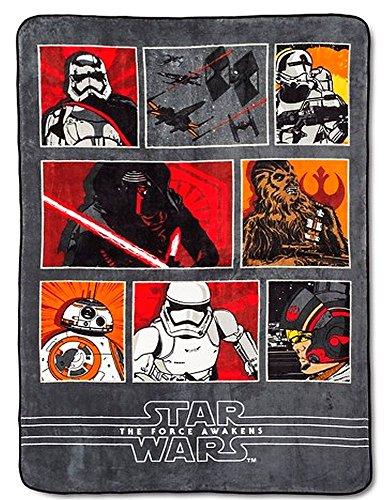 Disney Star Wars the Force Awakens Reversible Twin Comforter or Throw Blanket 62 X 90