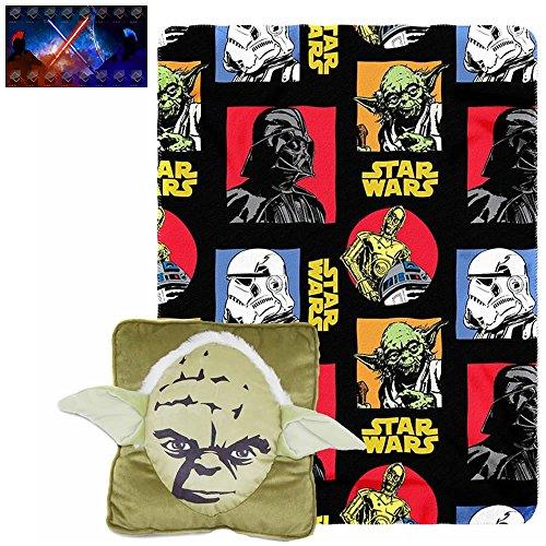 Licensed Disney Star Wars Yoda 3D Pillow 14x14 Throw 40x50  UAA Decal