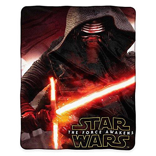 Star Wars Episode VII Force Awakens Aftermath Royal Plush Raschel Throw Blanket - Kylo Ren