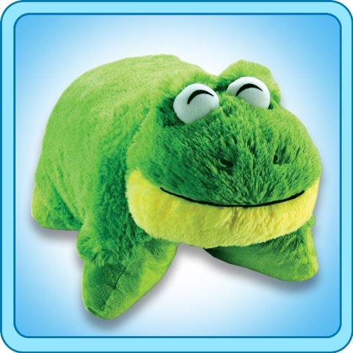 Green Yellow Big Eyes Ribbit Frog Pillow Pets Pee Wees