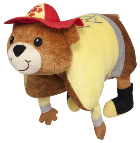Laid Back QF1207 Ready Teddy Fireman Snuggle Pillow