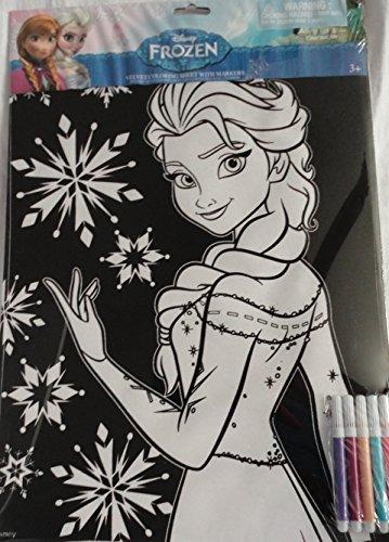 Disney Frozen Elsa Velvet Coloring Sheet with 5 Markers by Disney