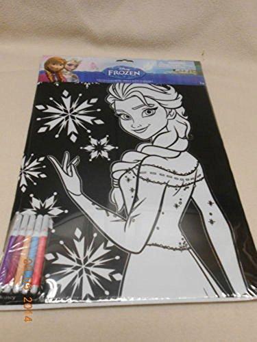 Disney Frozen Princess Elsa Coloring Sheets with Markers - 1 Princess Elsa Poster Size Velvet Coloring Sheet w 5 Markers by Disney
