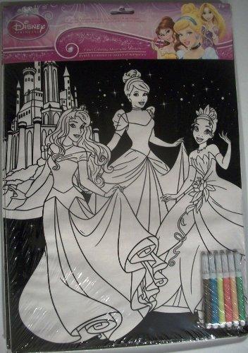 Disney Princess Velvet Coloring Sheet With Markers Model