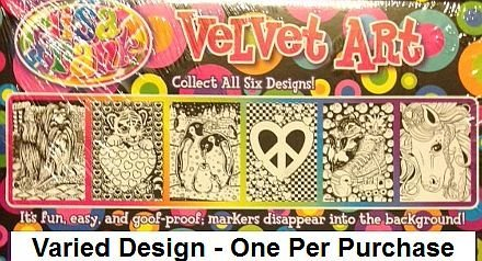 Lisa Frank Velvet Coloring Sheet Art Kit and Markers - Varied Images by Lisa Frank