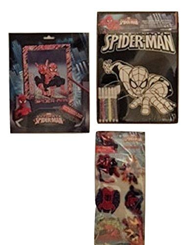 Marvel Spiderman Activity Set 6 Magnets1 sparkling scratch and reveal1 Velvet coloring sheet