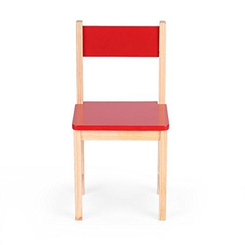 iKayaa Wooden Kids Chair Set Children Stacking School Chair Furniture
