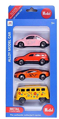 San Tokra 4Pcs Cars Model Alloy Metal Plastic Toy Cars for Children Gift