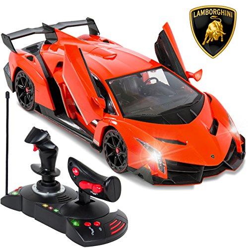 Best Choice Products 114 Scale RC Lamborghini Veneno Gravity Sensor Remote Control Car Orange