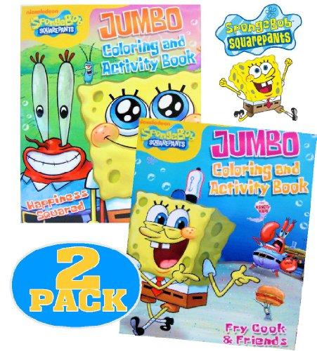 Nick JrSpongebob SquarePants Coloring and Activity Book Set 2 Books ~ 96 pgs each