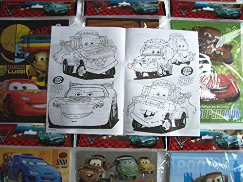 12 Sets of Disney Pixar Cars Coloring Books and Crayon Set Children Party Favors Bag Filler