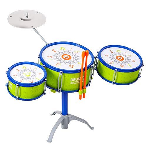 M SANMERSEN Jazz Kids Drum Set Kids Toy Drum Set Children Drum Set Musical Instrument Toys for 3 Years Old Kids Boys Birthday  Xmas  New Year Gifts for Kids
