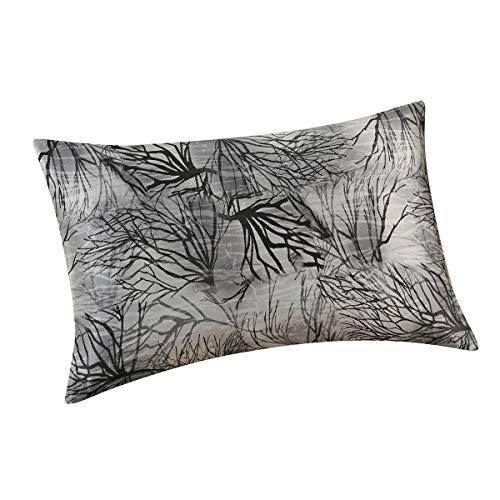 ALASKA BEAR - Natural Silk Pillowcase Hypoallergenic 100 Percent Mulberry Silk Standard Size with Hidden Zipper Custom Printing Pillow Case for Home Décor1 Ink