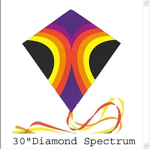 30 Inch Spectrum Diamond Nylon Kite with Line and Winder