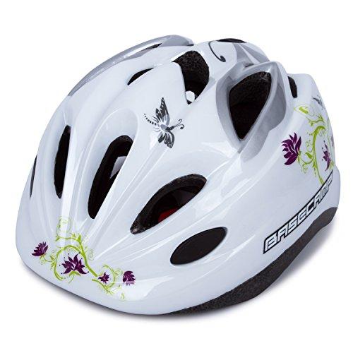 SUNVP Child Multi-Sport Lightweight Safety Mountain Bike Bicycle Cycling Kick Scooter Kids Helmet White Flower