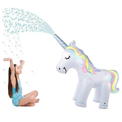 ASDY Summer Giant Inflatable Unicorn Sprinkler Standing Yard Summer Sprinkler Family Summer Entertainment - 57Ft Tall