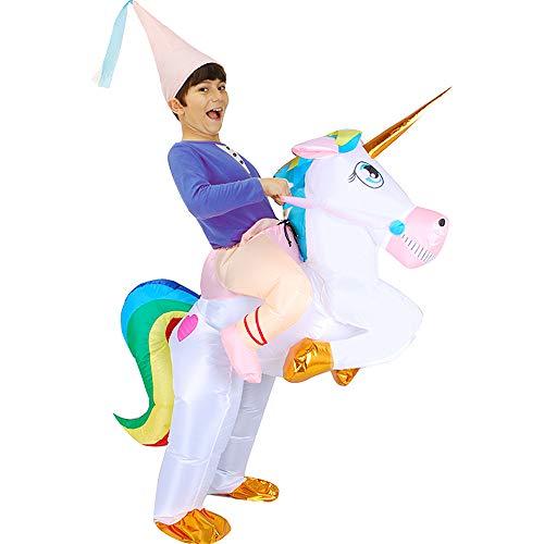 DricRoda Inflatable Costume Fancy Unicorn for Halloween Theme Shows