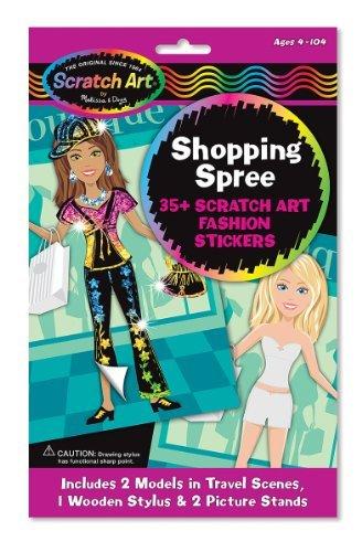 Melissa Doug Shopping Spree Scratch Art Fashion Stickers by Scratch Art