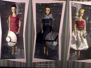 QHB6607 Friendship Fashion and Fun 45th Anniversary set of 3 figurines 2004 Hallmark