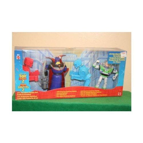 Disney TOY STORY 2 ALs Toy Barn Battle Set ROCKEM SOCKEM Robots Buzz Lightyear Evil Emperor Zurg New In Box International Version Rare Hard to Find Mattel