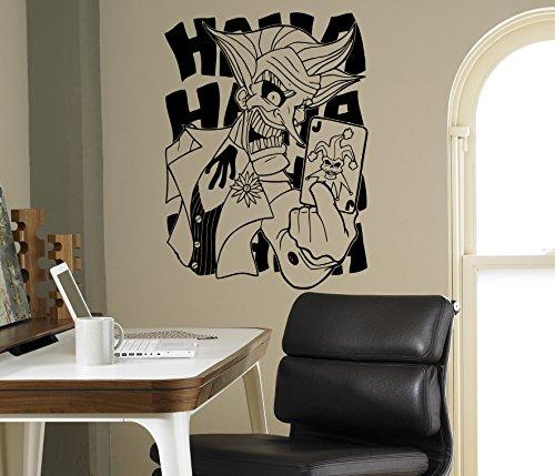 Comics Superhero Joker Wall Decal Batman Vinyl Sticker Home Interior Art Decor Ideas Bedroom Kids Room Removable Murals 10jkr