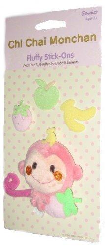 Chi Chai Monchan Fluffy Stick-Ons Self-Adhesive Sticker