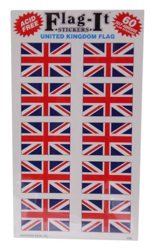 Union Jack British Flag Self Adhesive Stickers Pack 50