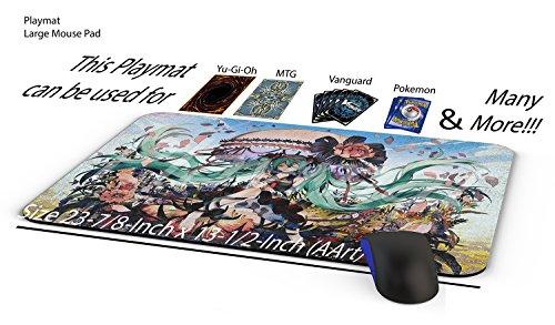 Yugioh HATSUNE MIKU Play Mat Yu-gi-oh HATSUNE MIKU Playmat  Custom Playmat - Trading Card Games Playmat  Size 23-78-Inch x 13-12-Inch AArt