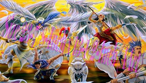 Yugioh Playmat Lightsworn Play Mat Yu-gi-oh Lightsworn Playmat  Custom Play mat  Size 23-78-Inch x 13-12-Inch AArt