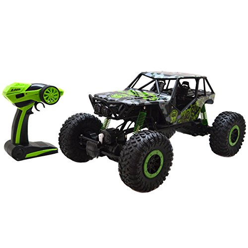 Costzon 110 Scale 24Ghz 4 Wheel Drive Rock Crawler Radio Remote Control RC Car Green